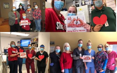 CHI Mercy Health Employees Celebrated Go Red for Women® on Friday, February 5, 2021